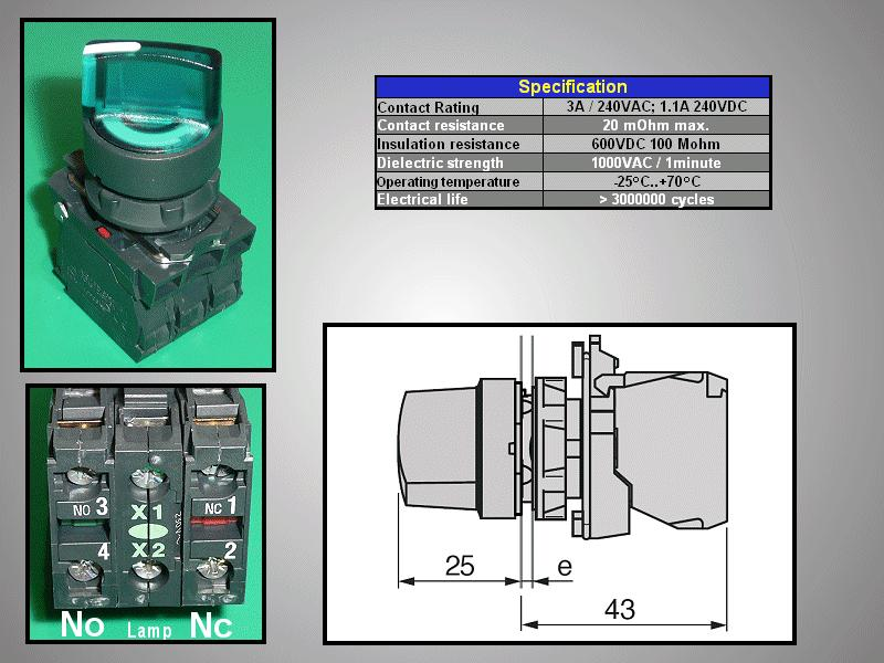 Forgókapcsoló 240V LED kontrol SW1112
