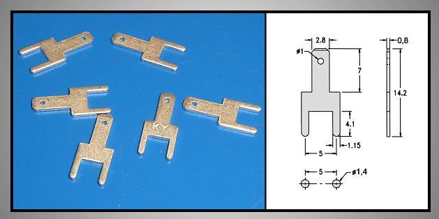 Csuszósaru nyákba 2.8/0.8/14.2mm CS-K222808/5.0