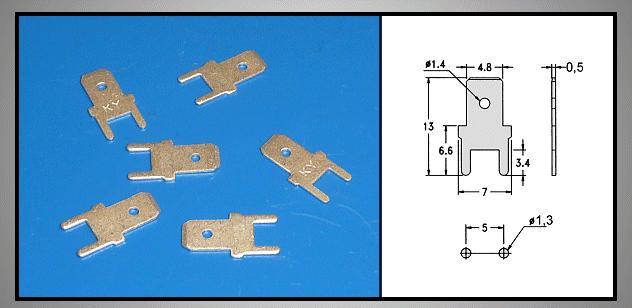 Csuszósaru nyákba 4.8/0.5/13mm CS-K224805