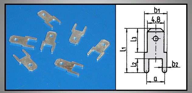 Csuszósaru nyákba 4.8/0.8/13mm CS-K224808