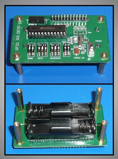 RFM01-es vevő DEMO egység RFM01 DEMO