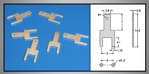 Csuszósaru nyákba 2.8/0.5/14.2mm CS-K222805