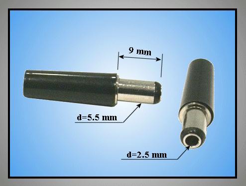 DC dugó L=30mm 5.5x2.5x 9mm CSAT-P0055/25