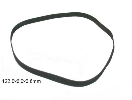 Lapos gumi szíj 122.0x6.0x0.6mm B/F122-60
