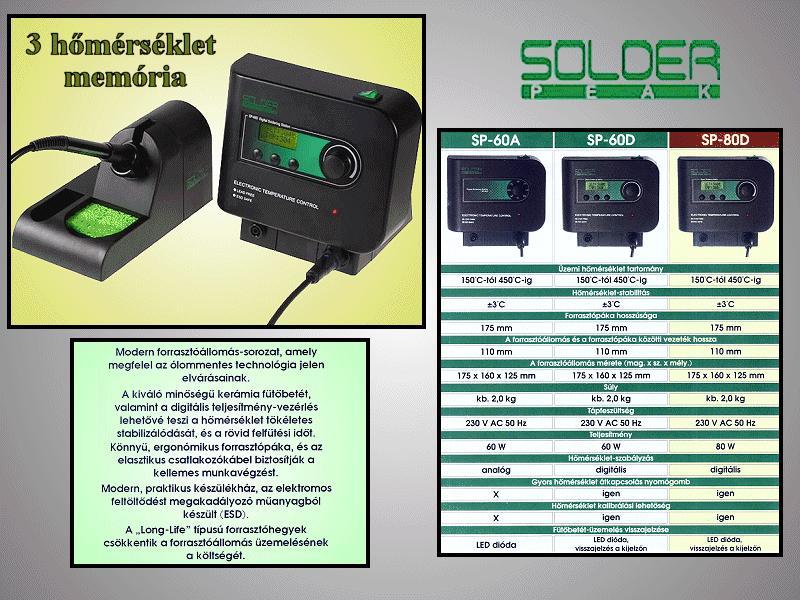 Digitális forrasztópáka állomás 80W ESD SOLD.SP-80D