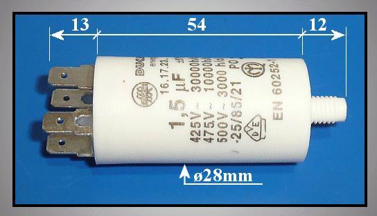 Szűrő kondenzátor 1.5uF 475VAC (sarus) W0-C0015/475