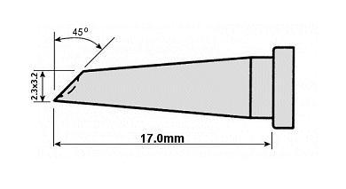 WELLER páka hegy WSP80 A:2.3mm B:3.2mm WEL.LT-GW -