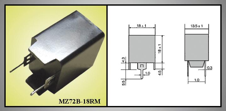 PTC-WIDERSTAND MZ72B18RM 2p. PTC/MZ72B18RM