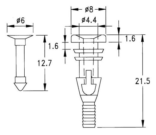 2 részes ventilátor gumi rögzítő elem 60x60 CY-CLIP-2