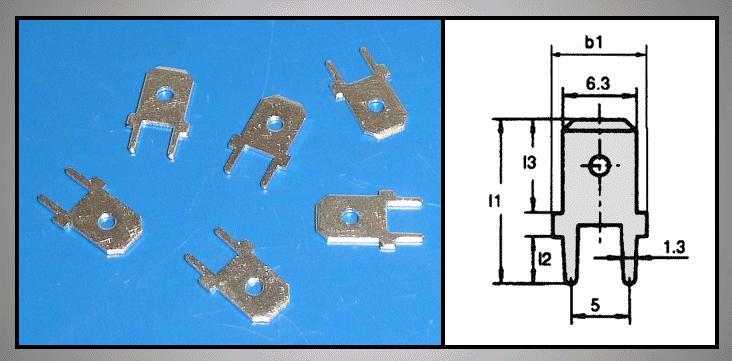 Csuszósaru nyákba 6.3/0.8/13mm CS-K226308
