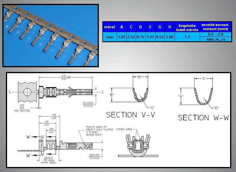Kétsoros csatlakozó dugóba hüvely AWG20-24 CSAT-22000/TH24