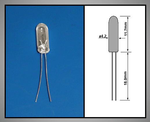 Izzó 12V 20mA 4.2x11.7mm LAMP12V/20