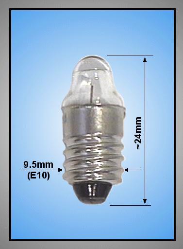 Izzó 2.5V 300mA 0.75W E10 Lencsés LAMP2.5V/300