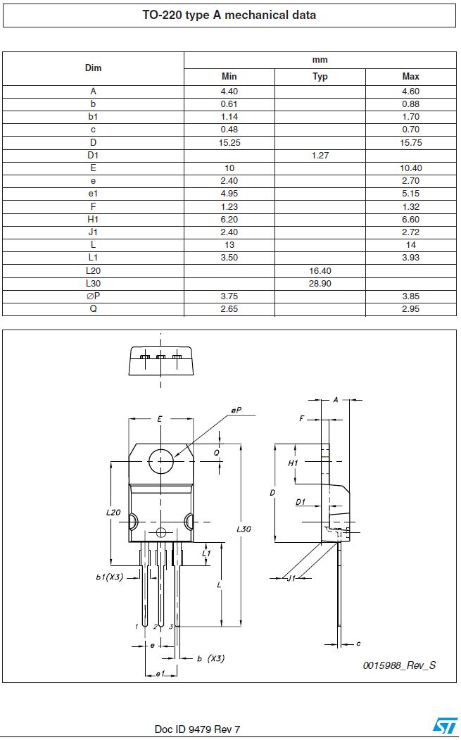 Tranzisztor N-MOSFET+D 900V 8A/32Ap. 160W 1.1R(5A) STP9NK90Z STP9NK90Z -
