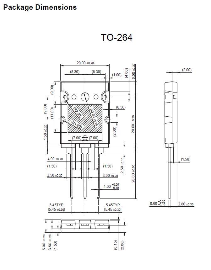 Tranzisztor NPN 250V 17A 150W 30MHz HI-FI FJL4315-O FJL4315-O -