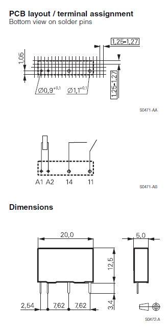 RELAY 1x240V 3/5A 24VDC PCN124D3Mhz RELAY-PCN124D3M