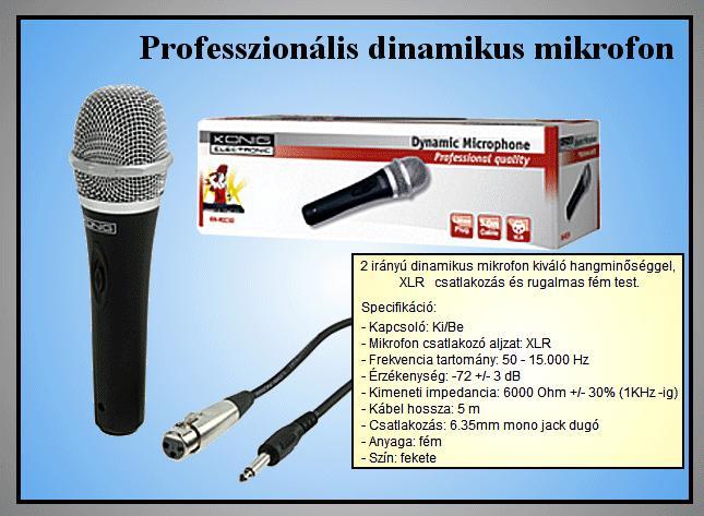 DINAMIKUS mikrofon (MIC50) MIKROFON 150 KN