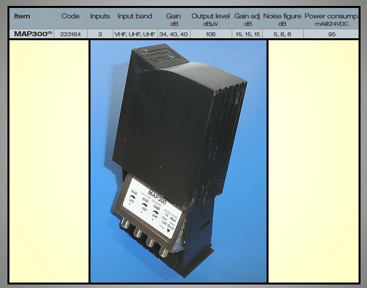 Antenna erősítő VHF-UHF 34/40dB ANT AMP MAP300