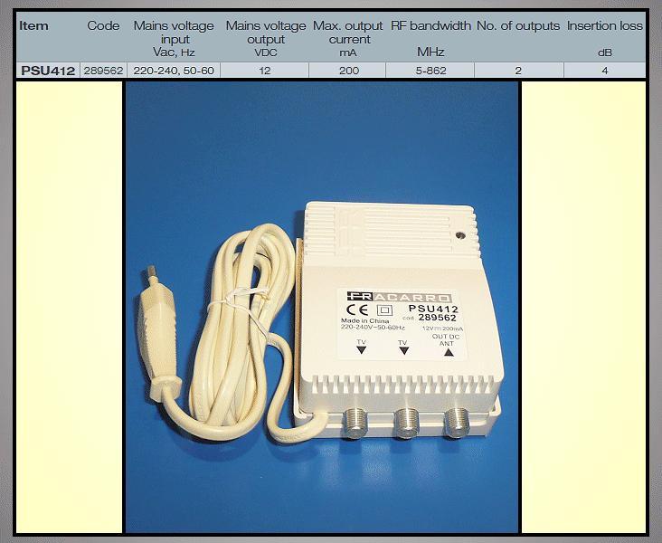 Antenna tápegység 12V 2 kimenettel ANT PWR PSU412