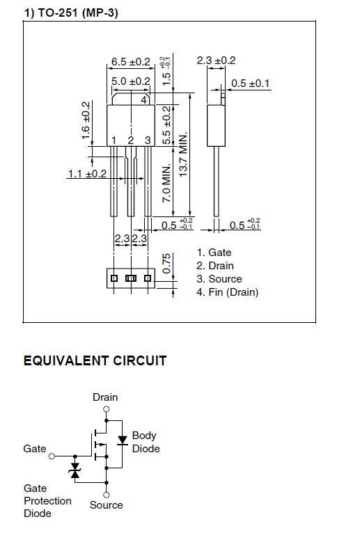 Tranzisztor P-MOSFET+Z 60V 12A/30Ap 23W 0.13R 2SJ598 2SJ598 -
