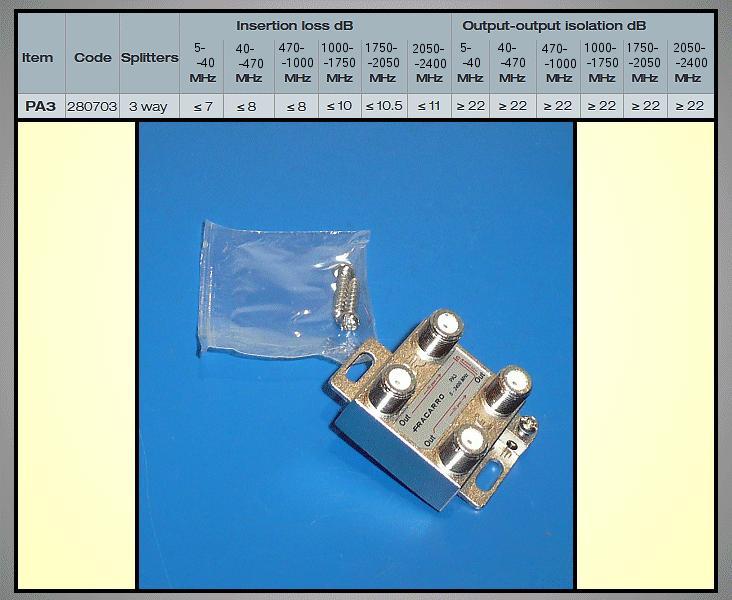 3 xelosztó 5-2400MHz DC iránycsatolt FC-803