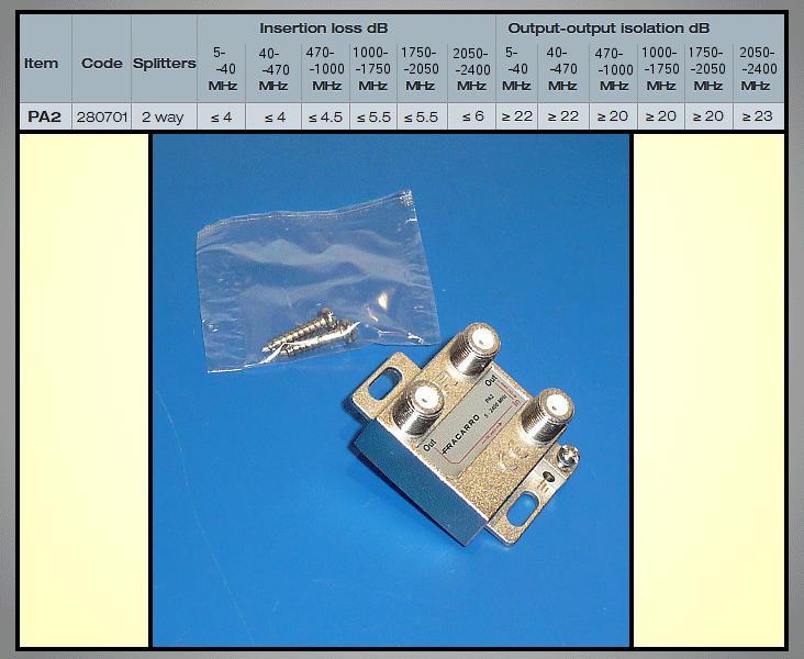 2 xelosztó 5-2400MHz DC iránycsatolt FC-802