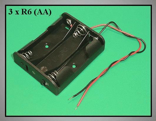 Elemtartó: 3xR6 (3-ceruza) BAT.H.SN-17