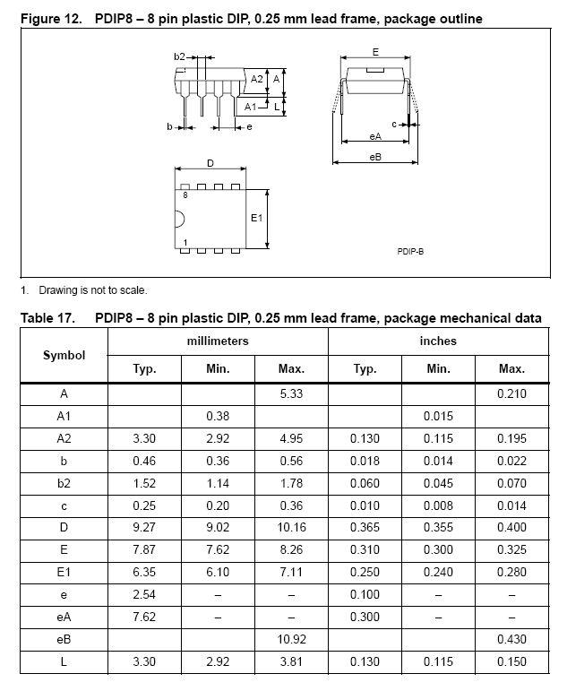 EEPROM 16Kx8 bit I2C BUS 8p. 24C128N -