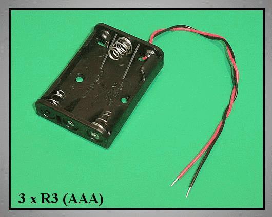 Elemtartó: 3xR3 (3-mini) BAT.H.SN-25