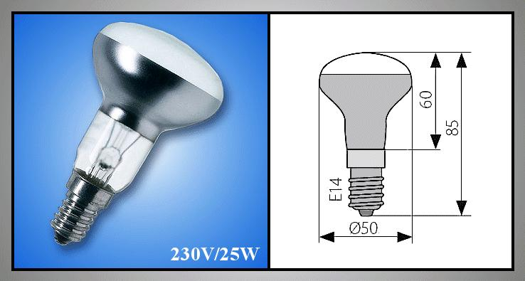 E14 230V 25W R50 DT12551 izzólámpa LAMP 0034/25