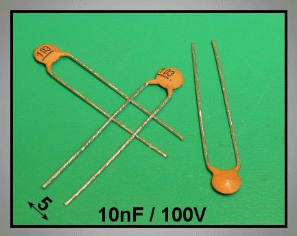 Kerámia kondenzátor 10nF 100VDC 20% Y5V CC 10K 100V