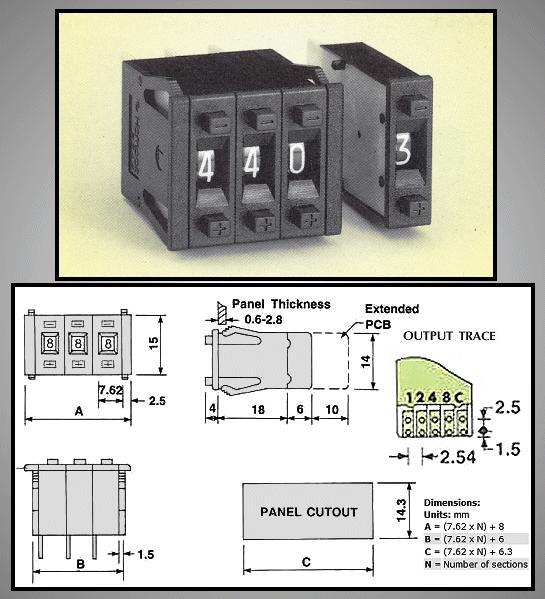 10 poziciós kódkapcsoló BCD (1db/ár) ENCODER Z-48-BCD
