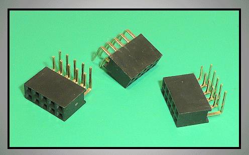 Kétsoros csatlakozó aljzat 2x5p. táv. 2.54mm CSAT-11010/DA90