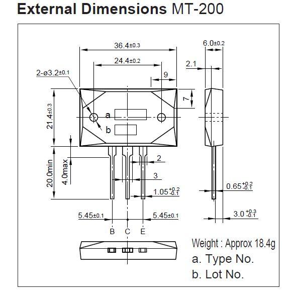 SI-P 230V 17A 200W 35MHz NF/SL 2SA1295-SKN