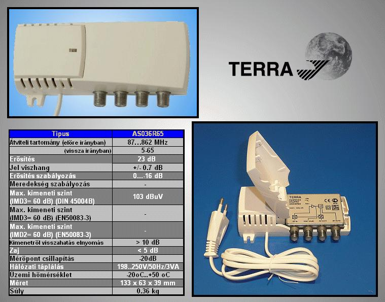 Antenna erősítő 5-65/87-862MHz ANT AMP AS03665