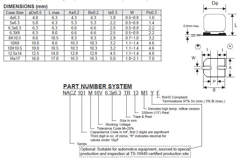 ELKO 220uF 16V 105°C Low-ESR SMD6.3 220/16SMD-105ES -