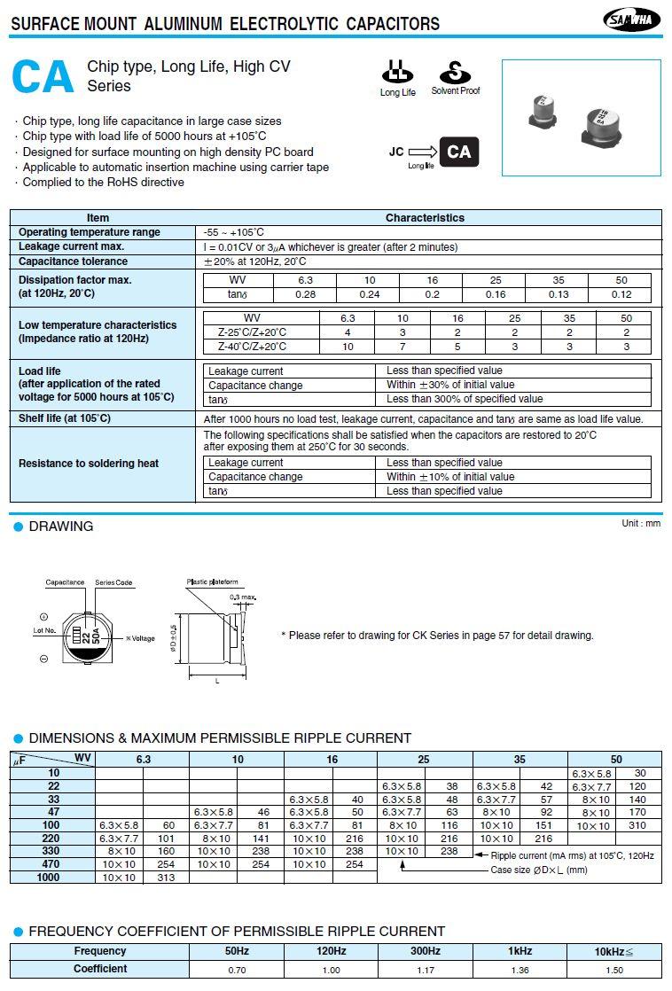 ELKO 330uF 25V 105°C SMD10.0 330/25SMD-105