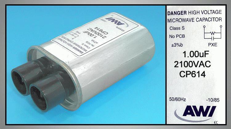 H.V. kondenzátor 1.00uF 2100VAC MW-C1.00