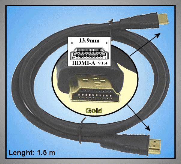 HDMI dugó - HDMI dugó 1.5m Gold CABLE-550/1.5GH