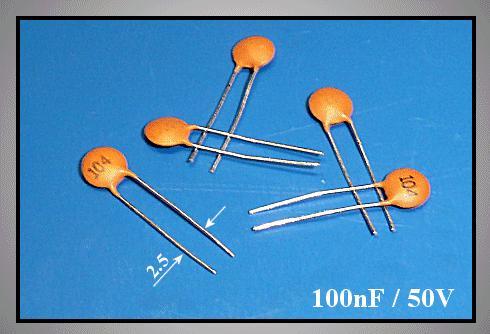 kerámia kondenzátor 100nF 50VDC 20% RM-2,54 CC 100K 50V