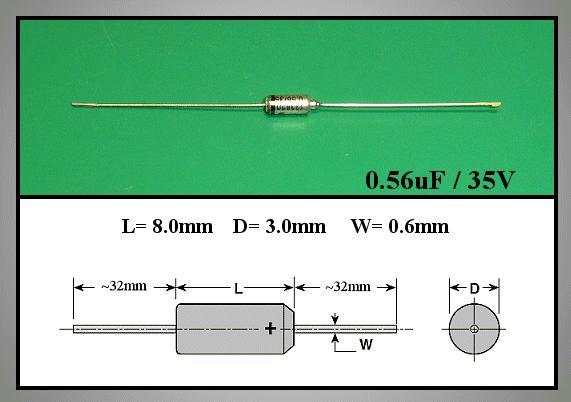 TANTAL kondenzátor 560nF 35V TC 0.56/35