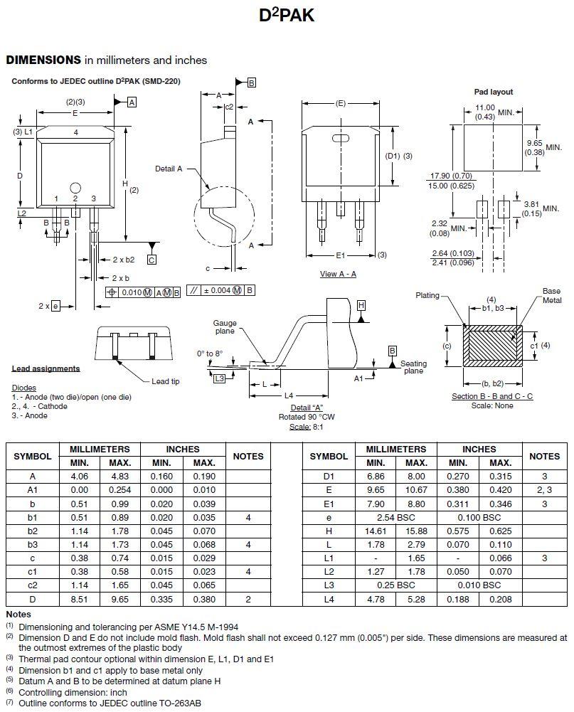Tirisztor 1200V 18A/300Ap Igt:45/60mA Ih:100mA SMD 25TTS12S -
