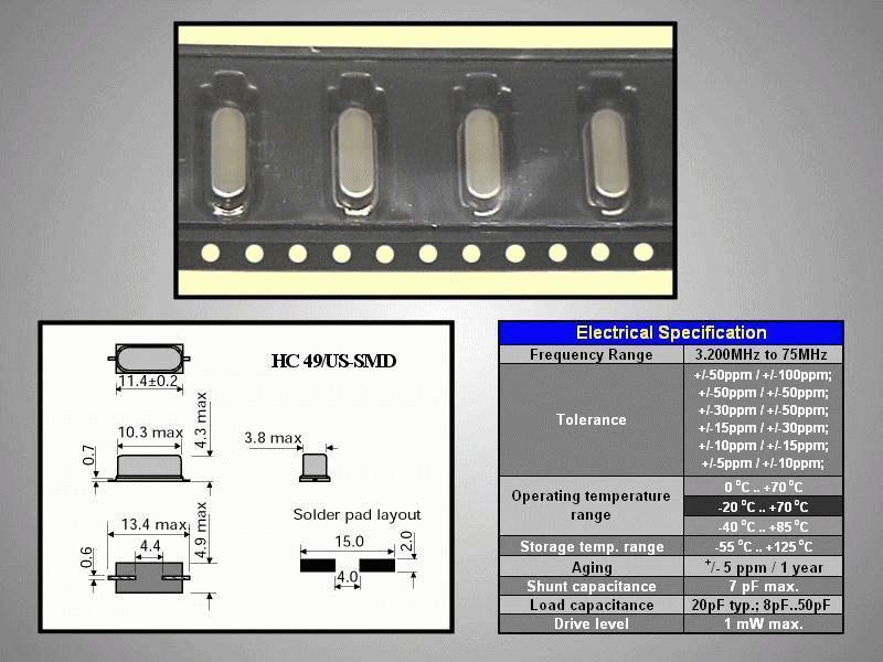QUARTZ 20.250.000Hz HC49/S4 20.250 HC49/SMD -