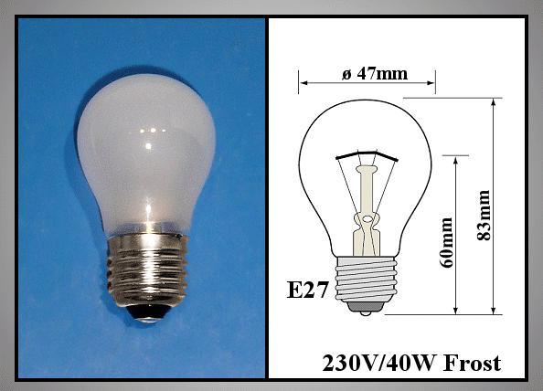 230V 40W E27 FROST LAMP 0172
