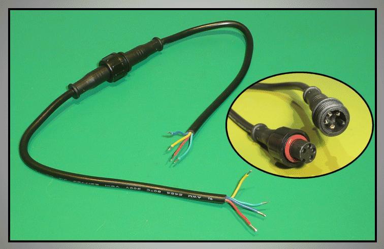 Kábel készlet vízálló RGB LED szalaghoz RIBBON-002/4