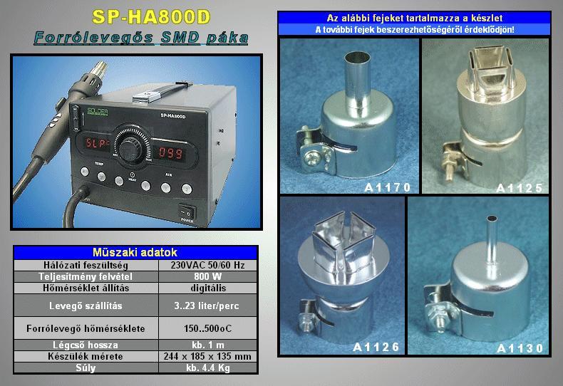 Forrólevegős forrasztóállomás SP-HA800D SOLD.SP-HA800D