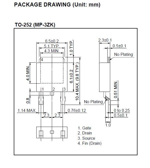 Tranzisztor N-MOSFET SMD 40V 60A/180Ap. 52W 0.0052R 2SK4075 2SK4075 -