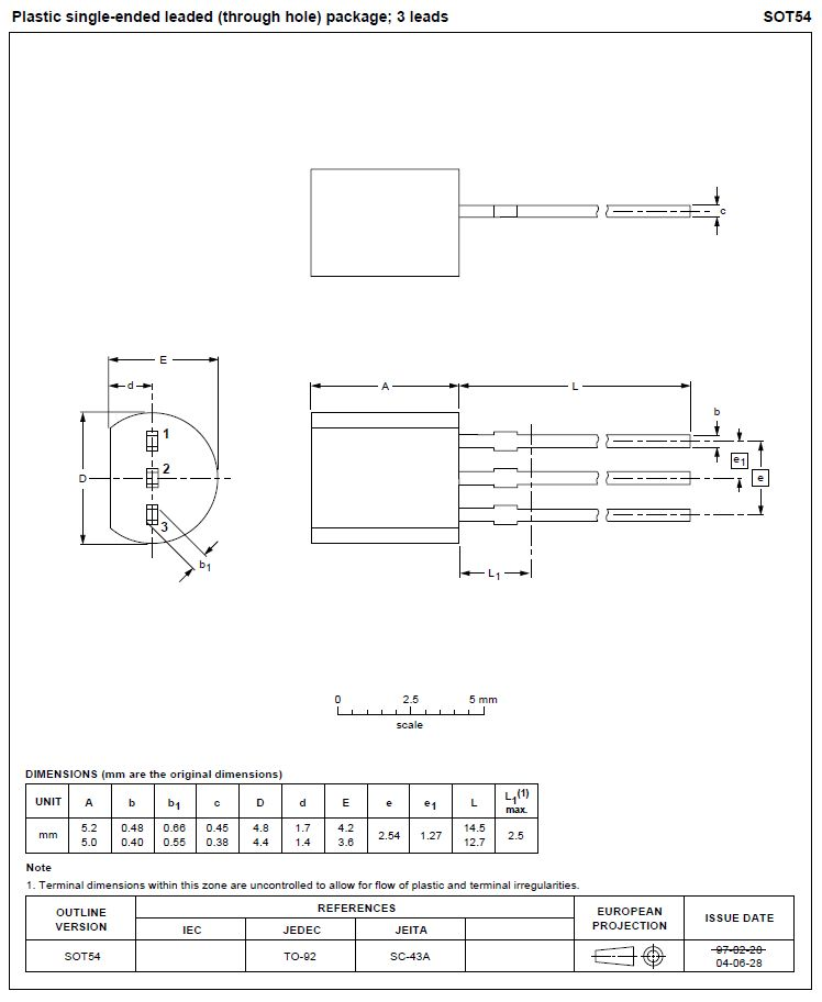 TRIAC 600V 1A Igt/Ih<3/5mA BT131-600
