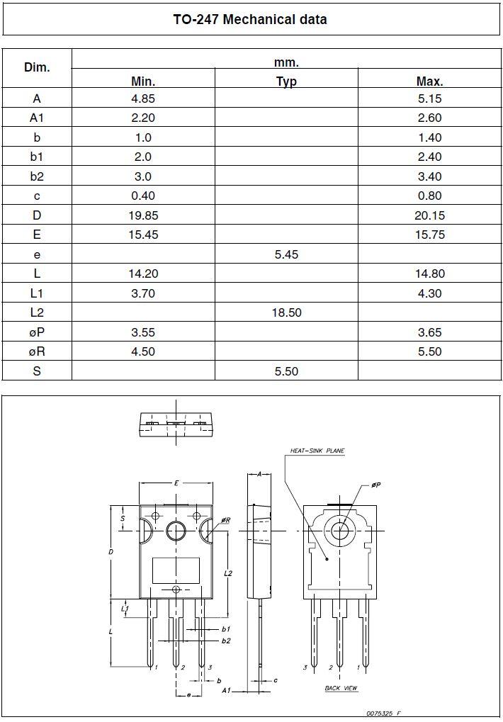 Tranzisztor N-MOSFET+Z 500V 20A/68Ap 190W 0.23R (12.6A) STW20NK50Z STW20NK50Z -