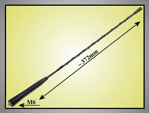 AM/FM antenna 372mm (M6 külső) CAR-ANT.MA35.01